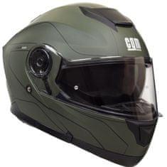 CGM Výklopná přilba moto Kyoto– zelená