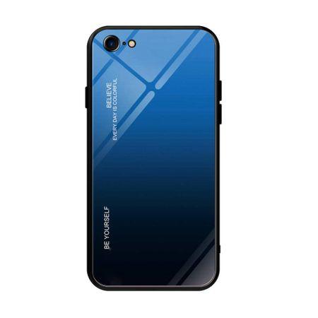 MG Gradient Glass plastika ovitek za iPhone 7/8/SE 2020, črna/modra