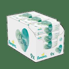 Pampers vlažne maramice Aqua Pure, 9x