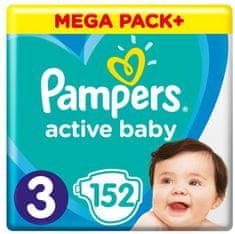 Pampers Active Baby Mega Pack Velikost 3, 152 ks 6–10 kg