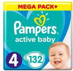 Pampers Active Baby Mega Pack Velikost 4, 132 ks 9-14 kg