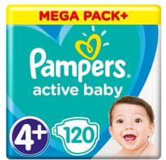Pampers Active Baby Mega Pack Rozmiar 4+, 120 szt. 10-15 kg