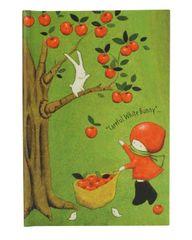 Santoro blok Apple Pick Poppi Lov, 17x11 cm, črtasti