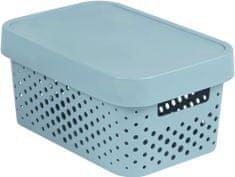 Curver úložný box INFINITY 4,5l s víkem šedý puntíky