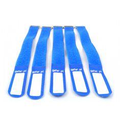 Gafer.pl Tie Straps, vázací pásky, 25x400mm, 5 ks, modré
