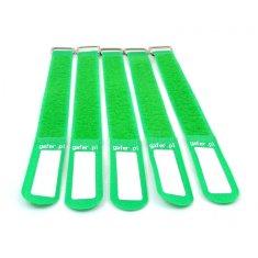 Gafer.pl Tie Straps, vázací pásky, 25x400mm, 5 ks, zelené