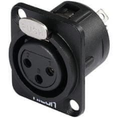 Hicon XLR mounting plug 3pin HI-X3DF-G
