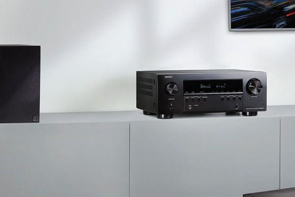 výkonný av receiver denon avrs960h Bluetooth wifi 8k60hz 4k120hz 6hdmi vstupů 2 hdmi výstupy výkon 145 w na kanál 7.2 kanálů audyssey kalibrace zvuku dolby atmos dolby atmos height virtualization dtsx dts virtualx hdcp 2.3 hdr10 hdr10+ hlg dolby vision  amazon alexa apple siri google assistant hlasové ovládání streaming tidal tunein spotify deezer amazon music hd phono vstup dva výstupy pro subwoofery heos built in streaming ve více zónách usb port flac alac wav dsd soubory