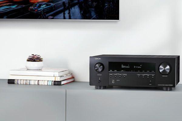 výkonný av receiver denon avrs9600h Bluetooth wifi 8k60hz 4k120hz 6hdmi vstupů 2 hdmi výstupy výkon 145 w na kanál 7.2 kanálů audyssey kalibrace zvuku dolby atmos dolby atmos height virtualization dtsx dts virtualx hdcp 2.3 hdr10 hdr10+ hlg dolby vision  amazon alexa apple siri google assistant hlasové ovládání streaming tidal tunein spotify deezer amazon music hd phono vstup dva výstupy pro subwoofery heos built in streaming ve více zónách usb port flac alac wav dsd soubory