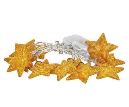 Solight Świąteczna led łańcuch ze złotymi gwiazdami