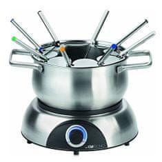 Clatronic FD 3516, fondue szett, 8 fő, térfogata 1,2L, rozsdamentes acél, r, FD 3516, fondue szett, 8 fő, térfogata 1,2L, rozsdamentes acél, szabályozás