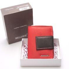 Bellugio Dámská kožená kombinovaná peněženka Ottone červená/černá