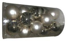 DUE ESSE set božićnih ukrasa od stakla, zlatna / biserna, Ø 8 cm, 20 komada