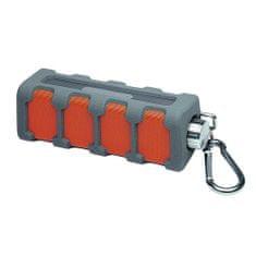 AEG IPX4 hangszóró, BSS 4827 bluetooth, karabiner, aux, accu, kihangosító