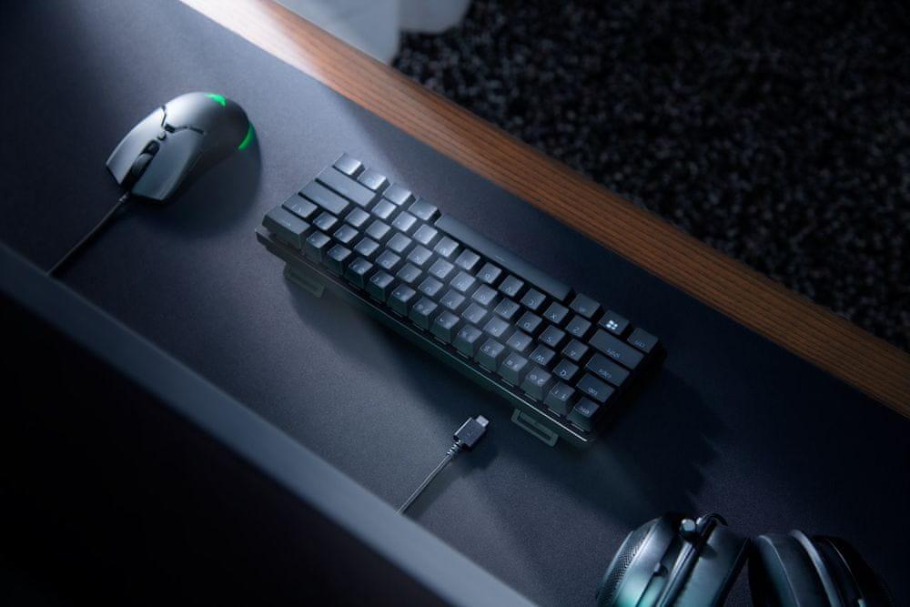 Herní klávesnice Razer Huntsman Mini, Razer Purple, US (RZ03-03390100-R3M1) podsvícení RGB