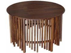 Danish Style Konferenčný stolík Rubi, 90 cm, hnedá