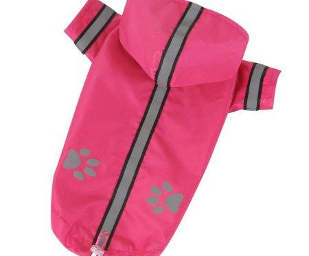 Kraftika Kabát könnyű nylon reflex-rózsaszín xxs, esőkabát