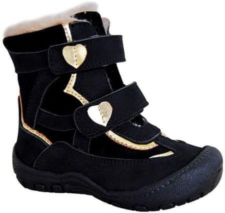 Protetika SABINA BLACK 72021 téli cipő lányoknak, 22, fekete