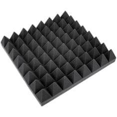 Eurolite Akustická pěna, pyramidy 100 mm, 50 x 50 cm