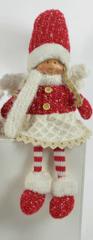 DUE ESSE dekoracja świąteczna siedząca dziewczynka, 55 cm