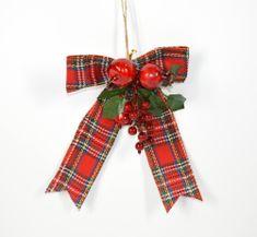 DUE ESSE świąteczna dekoracja kokarda gałązką, 30 cm
