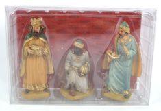 DUE ESSE Figurki bożonarodzeniowe trzech królów wys. 15 cm