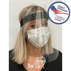 CLEANLIFE Náhradní plexisklo k obličejovému štítu - balení 5 ks