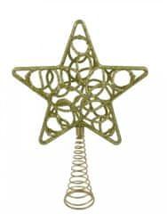 DUE ESSE ozdoba świąteczna szpic złoty, gwiazda, 30 cm