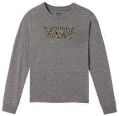 Vans dětské tričko GR LEOPARD V Grey Heather