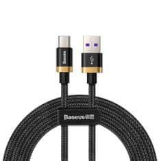 BASEUS Purple Gold Red kabel USB / USB-C QC 3.0 5A 40W 2m, črna