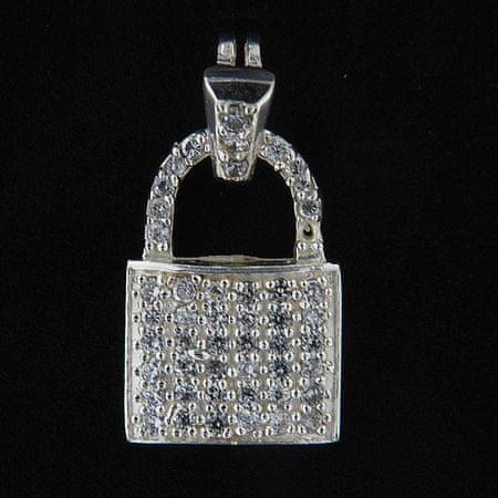 Amiatex Wisiorek srebrny 14063 + Skarpetki Gatta Calzino Strech, UNIWERSALNY