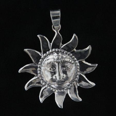 Amiatex Wisiorek srebrny 14072 + Skarpetki Gatta Calzino Strech, UNIWERSALNY