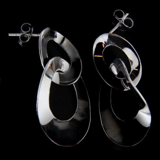 Amiatex Stříbrné náušnice 62621 + Ponožky Gatta Calzino Strech, UNIVERZáLNí
