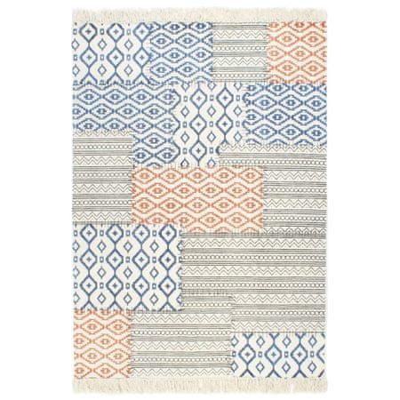 shumee Ręcznie tkany kilim, bawełna, 120x180 cm, z nadrukiem, kolorowy
