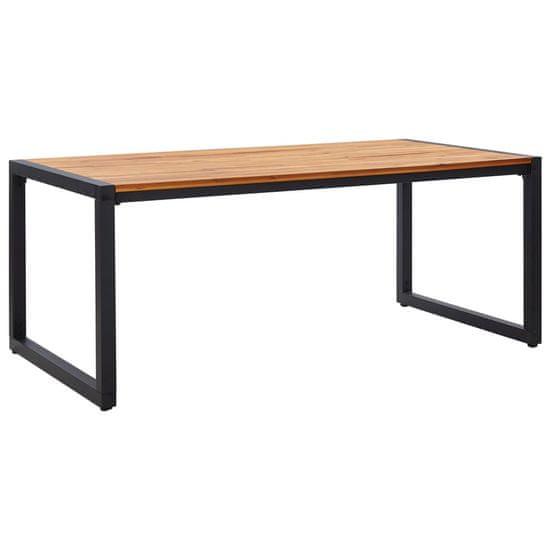 Záhradný stôl s nohami v tvare U 180x90x75 cm akáciový masív
