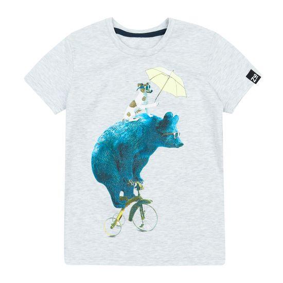 Garnamama chlapčenské tričko 134, šedá