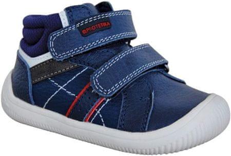 Protetika buty chłopięce flexi barefoot DANY NAVY 72021 22, ciemnoniebieskie