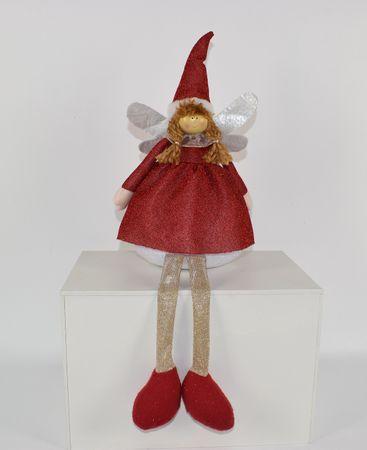 DUE ESSE božićna dekoracija djevojčica koji sjedi, 45 cm