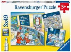 Ravensburger slagalica 050888 Astronavti, 3x49 dijelova