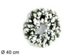 DUE ESSE božični snežni venec, Ø 40 cm