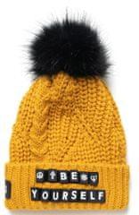 Desigual dámská žlutá čepice Hat Messages 20WAHK06_1