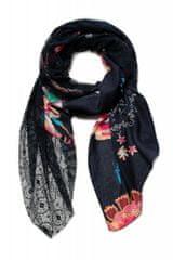 Desigual dámský černý šátek Foul Indi Chintz Patch 20WAWA02