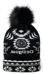 Desigual dámská černá čepice Hat Ethnic Reversible 20WAHK02