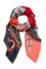 Desigual dámský červený šátek Foul Bali Butterfly 20WAWA06