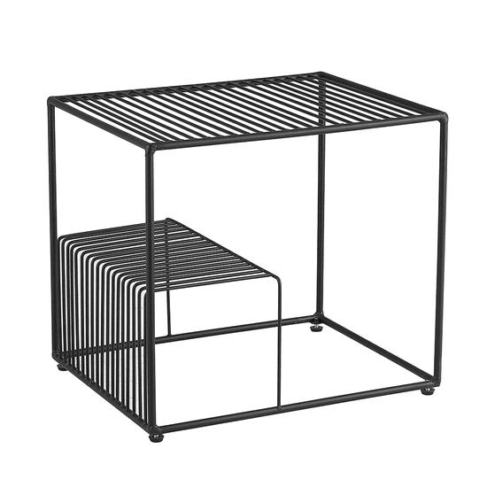 TEMPO KONDELA Príručný stolík, čierna/kov, WILOV