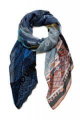Desigual dámský modrý šátek Foul Patch Night Bright 20WAWA09