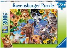 Ravensburger Puzzle 129027 Vicces mezőgazdasági állatok 200 darab