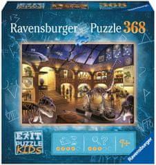 Ravensburger Puzzle 129256 Exit KIDS: Éjszaka a múzeumban 368 darabos