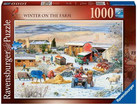 Ravensburger Puzzle 164783 Zima na farmie 1000 sztuk