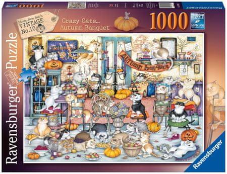 Ravensburger Bolondos macskák, őszi lakoma 1000 darabos puzzle 165094